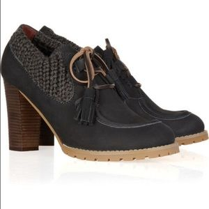 See by Chloe - Knit Grey Brown Heeled Boots